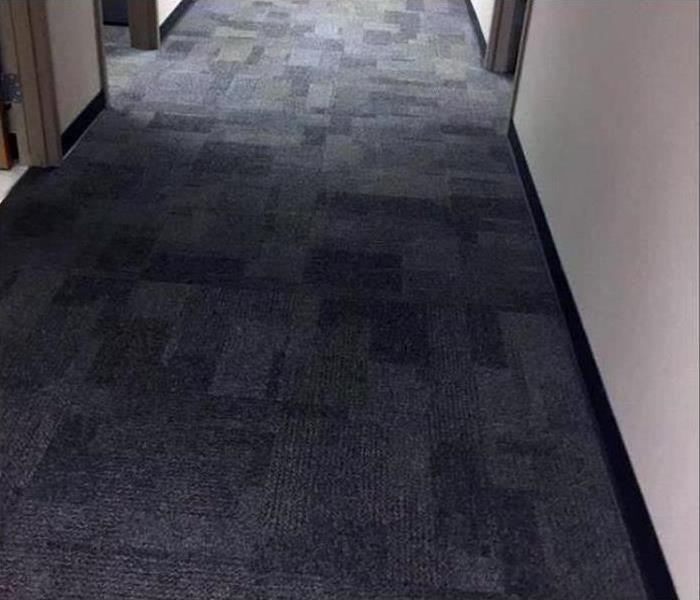 Floor dry back to pre-loss condition
