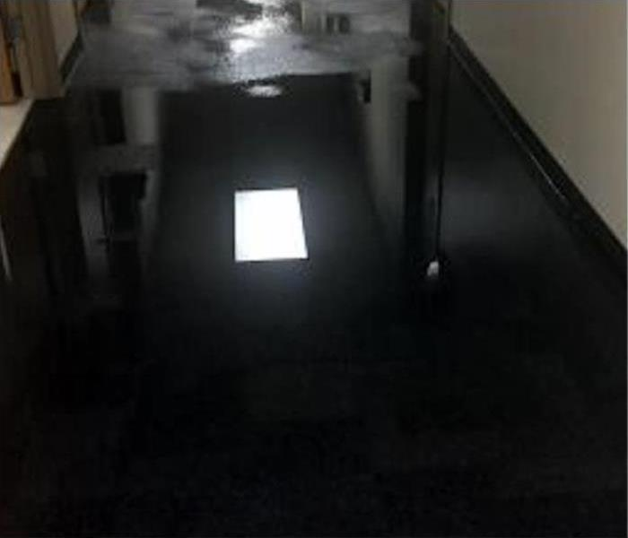 Floor filled with water