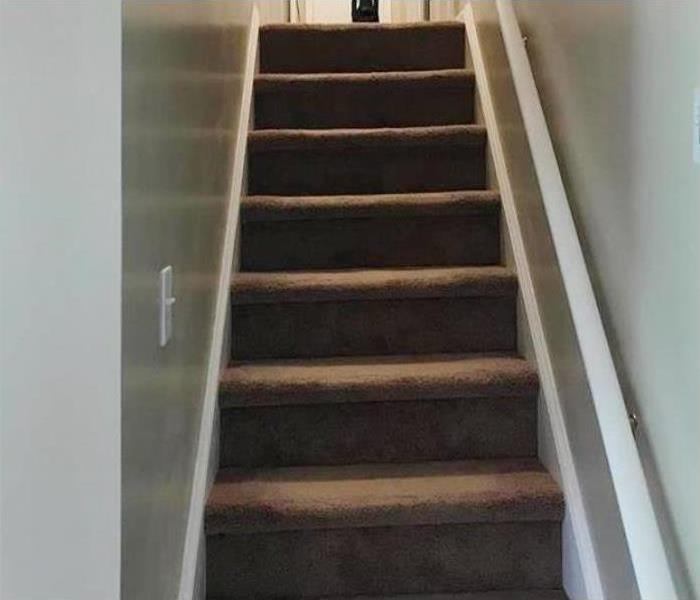 Stair case back to pre-loss condition
