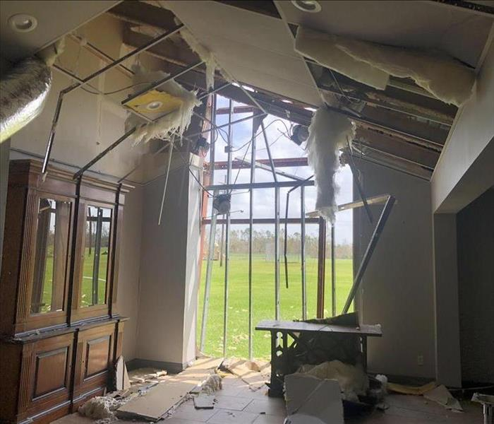 House ripped apart from hurricane