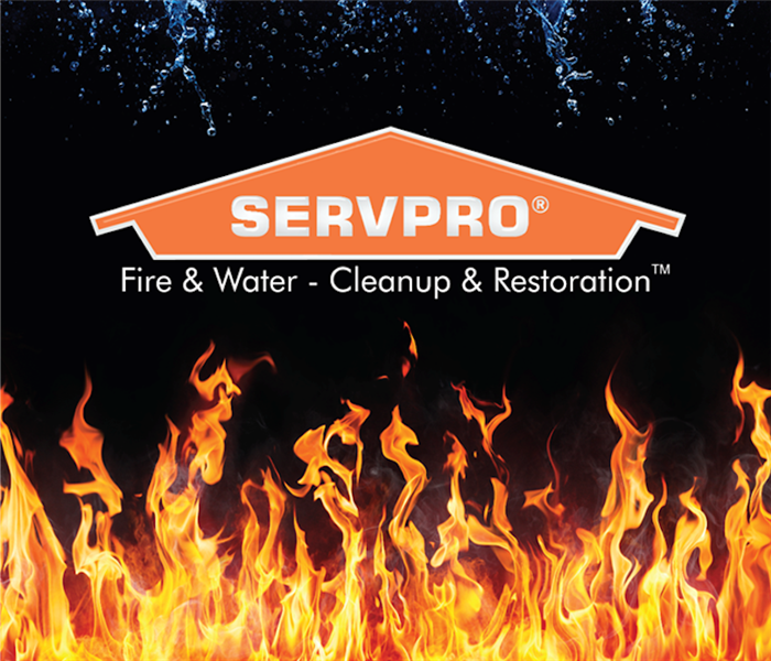SERVPRO® house logo with fire flames