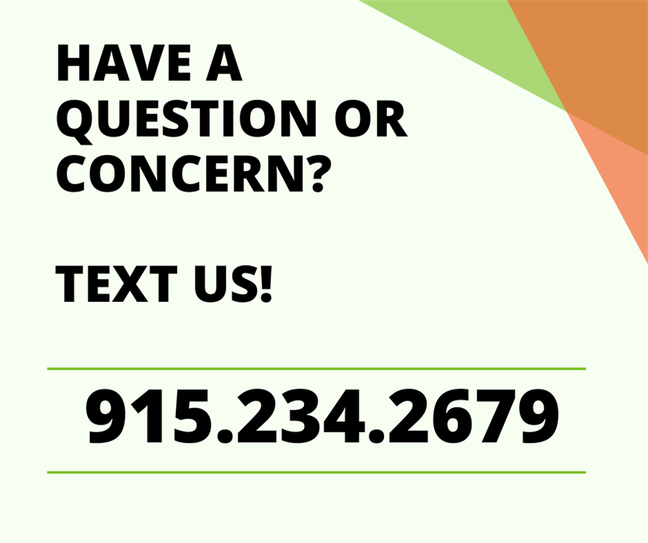 Text us today at 915.234-2679